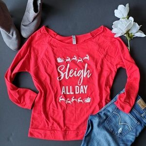 Sleigh all day lightweight Christmas sweater